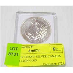 ONE TROY OUNCE SILVER CANADA ELK BULLION COIN