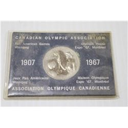 1967 PAN AM GAMES OLYMPIC COIN