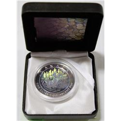 CANADIAN MINT ONE TROY OUNCE HOLOGRAM SILVER $5