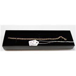 10 KT YELLOW GOLD ROPE BRACELET 8""