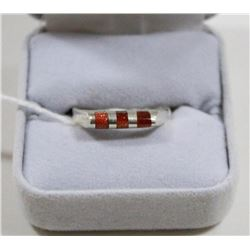 925 SILVER SUNSTONE RING SIZE 8.5