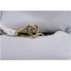 10 KT GOLD HEART RING MOUNT SIZE 3.5