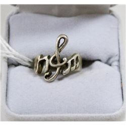STERLING SILVER TREBLE CLEF RING SIZE 5.5
