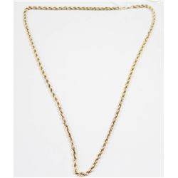 """10 KT GOLD ROPE CHAIN 24"""" 10G"""