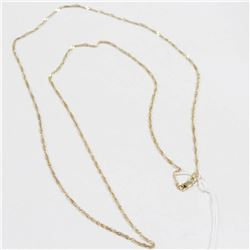 """10 KT GOLD SINGAPORE CHAIN NECKLACE 24"""""""