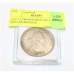 1797 US DRAPED BUST SILVER DOLLAR REPLICA