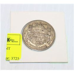 1951 CANADIAN SILVER 50 CENT PIECE IN HOLDER