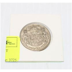 1950 CANADIAN SILVER 50 CENT PIECE IN HOLDER
