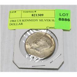 1964 US KENNEDY SILVER HALF DOLLAR