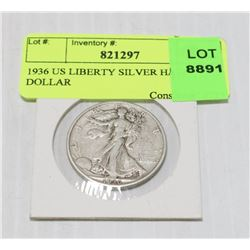 1936 US LIBERTY SILVER HALF DOLLAR