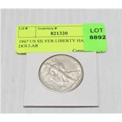 1947 US SILVER LIBERTY HALF DOLLAR
