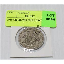 1948 UK SILVER HALF CROWN