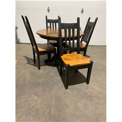 Pedistal table and chairs