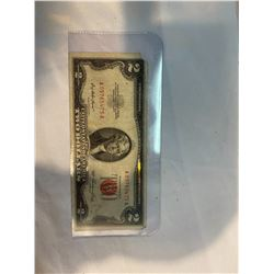 USA $2 bill