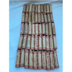 $25 rolled pennies