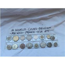16 World coins