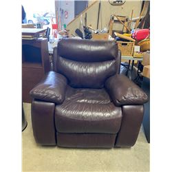 leather chair reclining