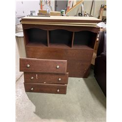 Single head foot rails and drawers