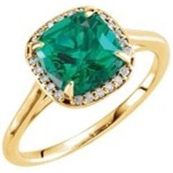JEWELRY – EMERALD AND DIAMONDS RING