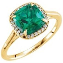 JEWELRY – EMERALD AND DIAMONDS RING