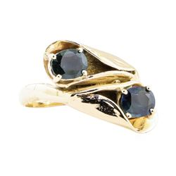 1.80 ctw Sapphire Ring - 14KT Yellow Gold