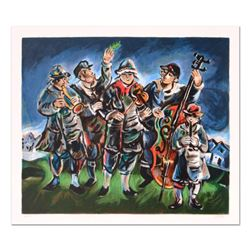"""Yosl Bergner (1920-2017), """"Klezmer"""" Limited Edition Lithograph, Numbered and Han"""