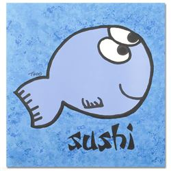 """Sushi"" Limited Edition Lithograph by Todd Goldman, Numbered and Hand Signed wit"