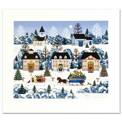"Jane Wooster Scott, ""Holiday Sleigh Ride"" Hand Signed Limited Edition Serigraph"