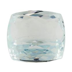 6.45 ct.Natural Rectangle Cushion Cut Aquamarine