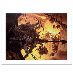 """The Siege Of Minas Tirith"" Limited Edition Giclee on Canvas by The Brothers Hil"