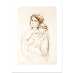 """Leona and Baby"" Limited Edition Lithograph by Edna Hibel, Numbered and Hand Sig"