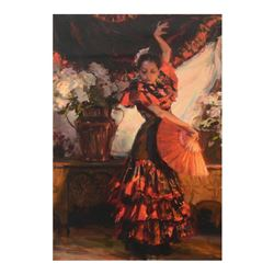 "Dan Gerhartz, ""Viva Flamenco"" Limited Edition on Canvas, Numbered and Hand Signe"