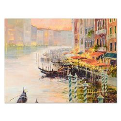 "Marilyn Simandle, ""Canal at Dusk"" Limited Edition on Canvas, Numbered and Hand S"