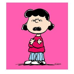 "Peanuts, ""Lucy: Pink"" Hand Numbered Canvas (40""x44"") Limited Edition Fine Art Pr"