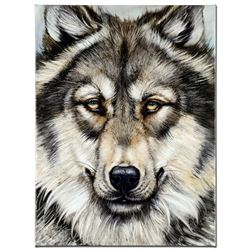 """Wonderful Wolf"" Limited Edition Giclee on Canvas by Martin Katon, Numbered and"