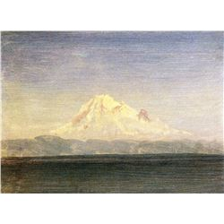 Snowy Mountains in the Pacific Northwest by Albert Bierstadt