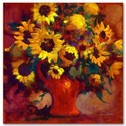 """Sunflowers"" Limited Edition Giclee on Canvas by Simon Bull, Numbered and Signed"