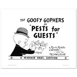 """Goofy Gophers"" Limited Edition Giclee from Warner Bros., Numbered with Hologram"