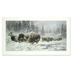 """Larry Fanning, """"Front Range Storm - Colorado Buffalo"""" Hand Signed and Numbered L"""