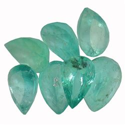 4.9 ctw Pear Mixed Emerald Parcel