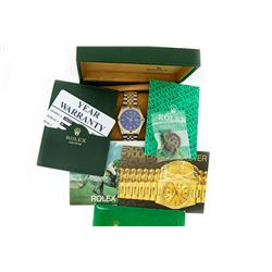 Rolex Mens Yellow Gold & SS Blue Index and Sapphire Bezel 36MM Datejust with Box