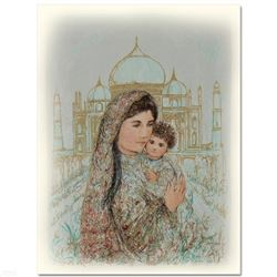 """""""Majesty at the Taj Mahal"""" Limited Edition Lithograph by Edna Hibel (1917-2014),"""