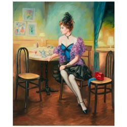 """Taras Sidan, """"Dinner"""" Hand Signed Limited Edition Giclee on Canvas with Letter o"""