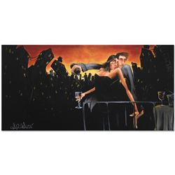 """City Lights & Love"" Limited Edition Giclee on Canvas (48"" x 24"") by David Garib"