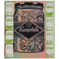 """Steve Kaufman (1960-2010), """"Campbell's Soup"""" Hand Painted Limited Edition Silksc"""