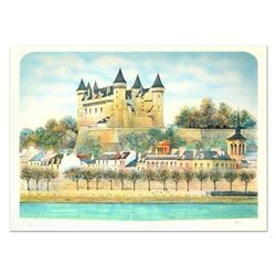 """Rolf Rafflewski, """"Chateau III"""" Limited Edition Lithograph, Numbered and Hand Sig"""