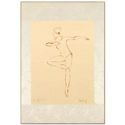 """Edna Hibel (1917-2014), """"Pirouette"""" Limited Edition Lithograph, Numbered and Han"""