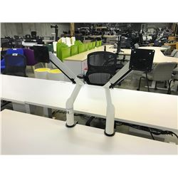 PAIR OF KNOLL FULLY ADJUSTABLE MONITOR STANDS