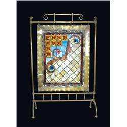 Leaded Stained Glass Fireplace Screen