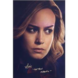 Avengers Endgame Brie Larson Signed Photo